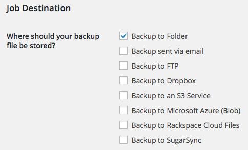 Job Destination Local Storage (Folder)