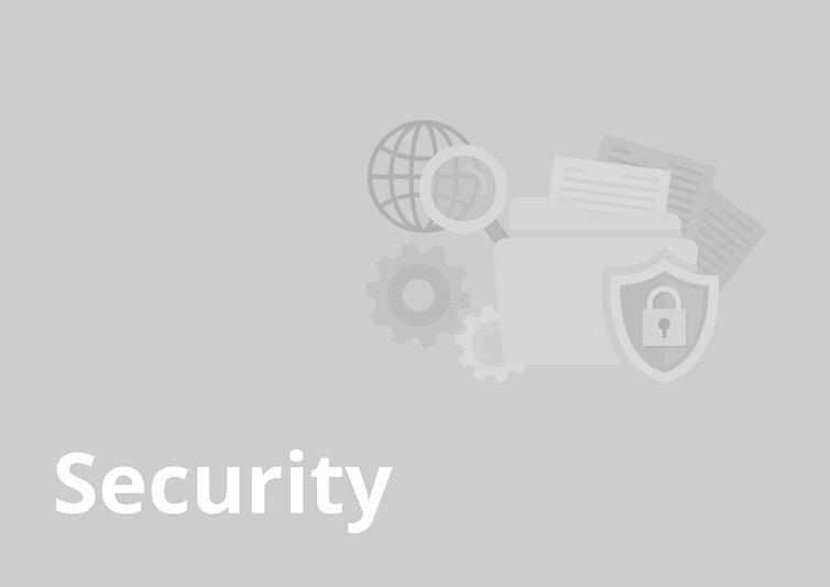 sample website report - security